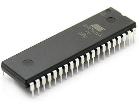 Microcontrôleur AVR 8 bits ATmega16 avec flash programmable intégré DIP-40 de 16 Ko