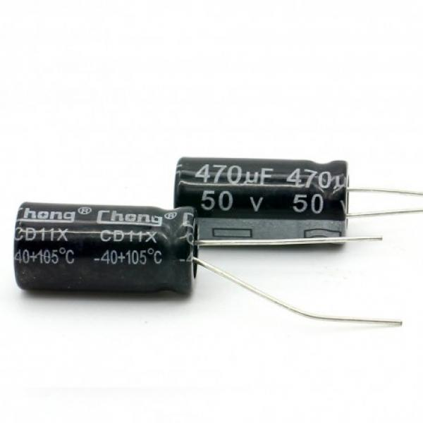 Condensateur Radial 470 uF 50 Volt 20% 85c 10x20x5mm