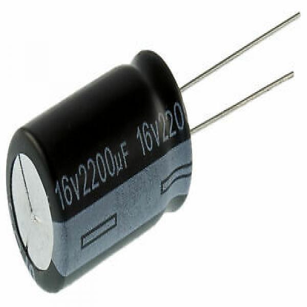 Condensateur radial électrolytique 2200uF 16V 105 deg C