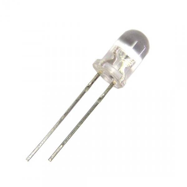 LED blanche tête ronde WATER CLEAR (l'unité)