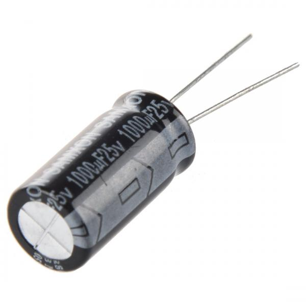Condensateur Radial 1000µF 25V 20% 105C 10x17x5mm