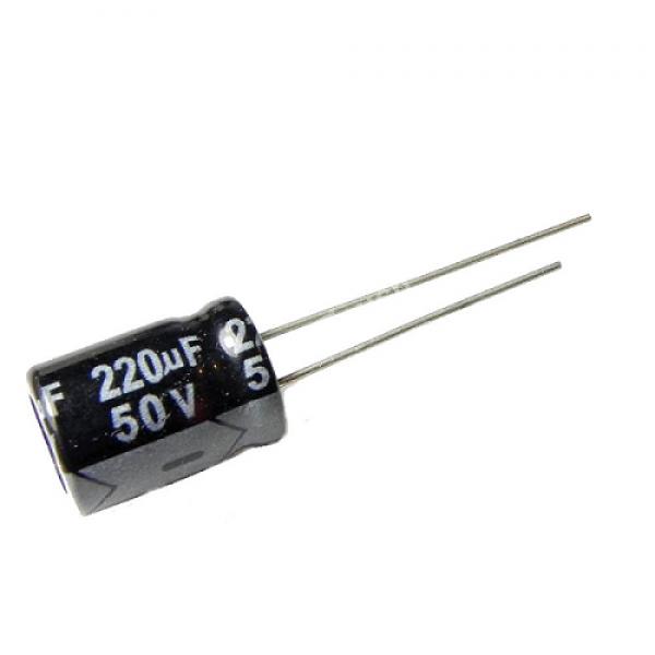 Condensateur 220 uF 50 Volt 20% 10 X 16mm Radial 5mm 1050ma 7000 Hour
