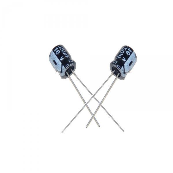 Condensateur Radial 220 uF 16 Volt 20% 85c 6.3x11x2.5mm