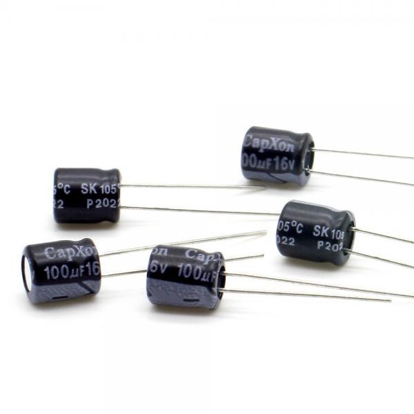 Condensateur Radial 100 uF 16v 20% 85c 5x11x2mm