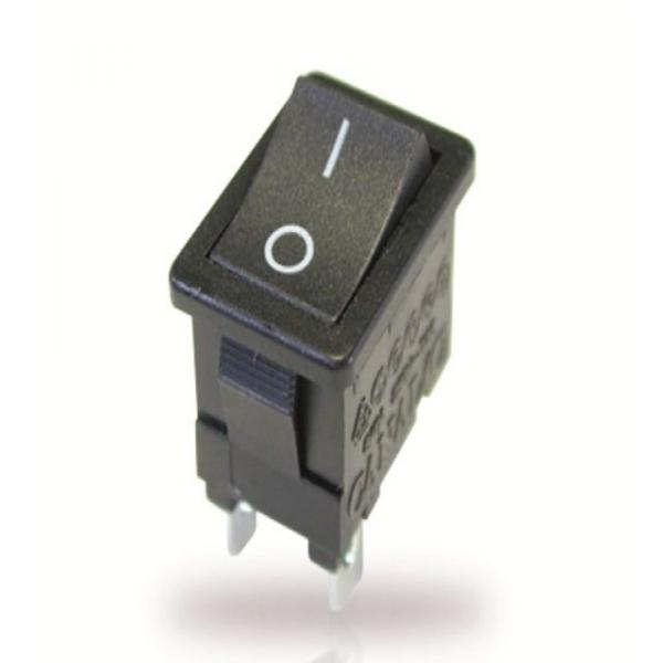Interrupteur à bascule SPST ON-OFF noir mat avec légende verticale O I