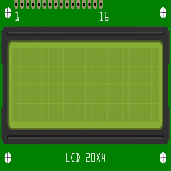 LCD 20X4 Rétroéclairage jaune